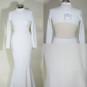 Dresses & Skirts - BACKLESS LONG SLEEVE MERMAID STYLE FORMAL DRESS